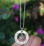 Words of Love (silver) Silver Pendant 'The love between Mother & Daughter...' with Heart