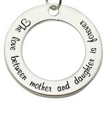 Words of Love (silver) Silver Pendant 'The love between Mother & Daughter...'