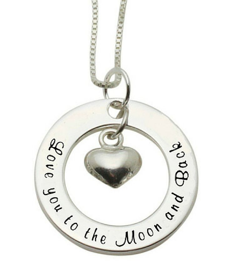KAYA jewellery Silver Necklace 'love you to the Moon & Back'