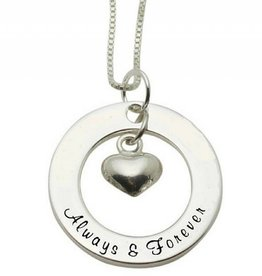 KAYA jewellery Silver Necklace 'Always & Forever'