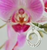 Words of Love (silver) Two Silver Pendants 'I love you ♡' - 'I love you more ♡'