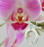 KAYA jewellery Two Silver Pendants 'I love you ♡' - 'to the moon & back ♡'
