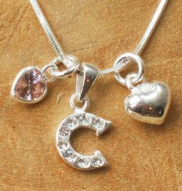 Initial jewellery Silver Mum Necklace 'Love'