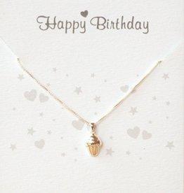 Jewellery Card Jewellery Card 'Happy Birthday' silver cupcake