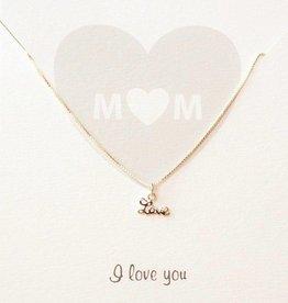 Jewellery Card Jewellery Card 'M♡M, I love you'