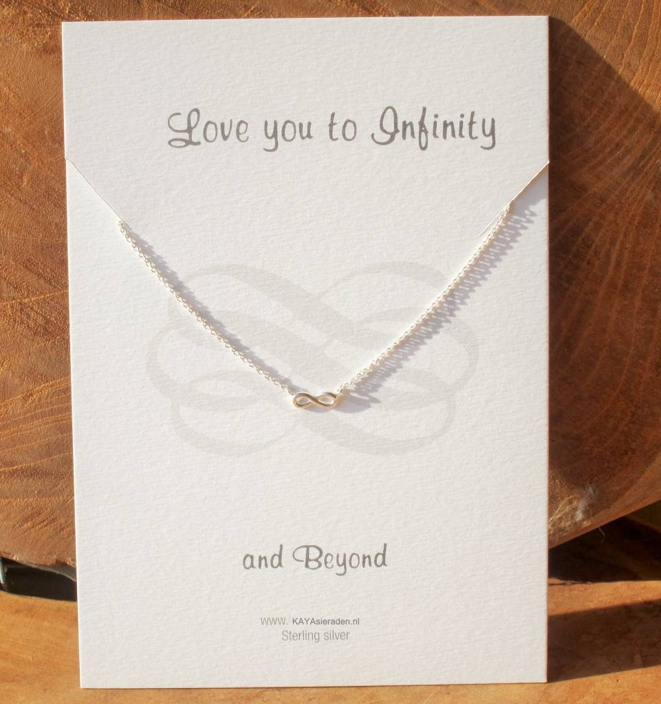 Jewellery Card Jewellery Card 'Love you to Infinity and Beyond'