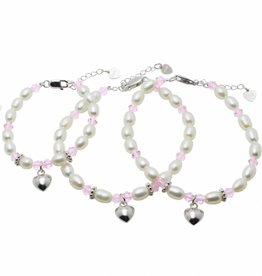 Little Diva (silver) 3 Generations Bracelets 'Little Diva' with Heart