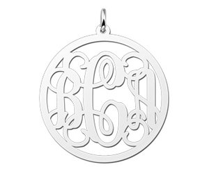 Silver monogram necklace with 2 or 3 letters kaya jewellery uk aloadofball Gallery