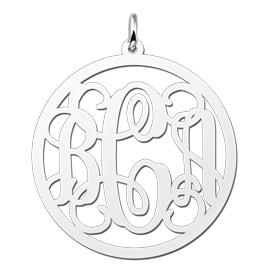 KAYA jewellery Silver Monogram Pendant 2 or 3 initials
