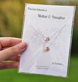 KAYA jewellery Jewellery Card mother & daughter 'Double Heart'