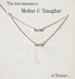 Jewellery Card Jewellery Card mother & daughter 'Infinity'