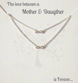 KAYA jewellery Jewellery Card Mother & Daughter 'Infinity'