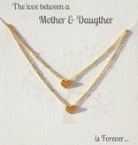KAYA jewellery Jewellery Card mother & daughter 'Golden Heart'