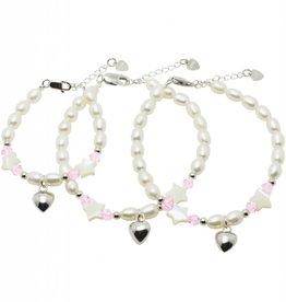 KAYA jewellery 3 Generations Silver Bracelets 'Little Star' with Heart