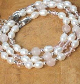 Bubbles (silver) 3 Generations Bracelets 'Pink Bubbles'