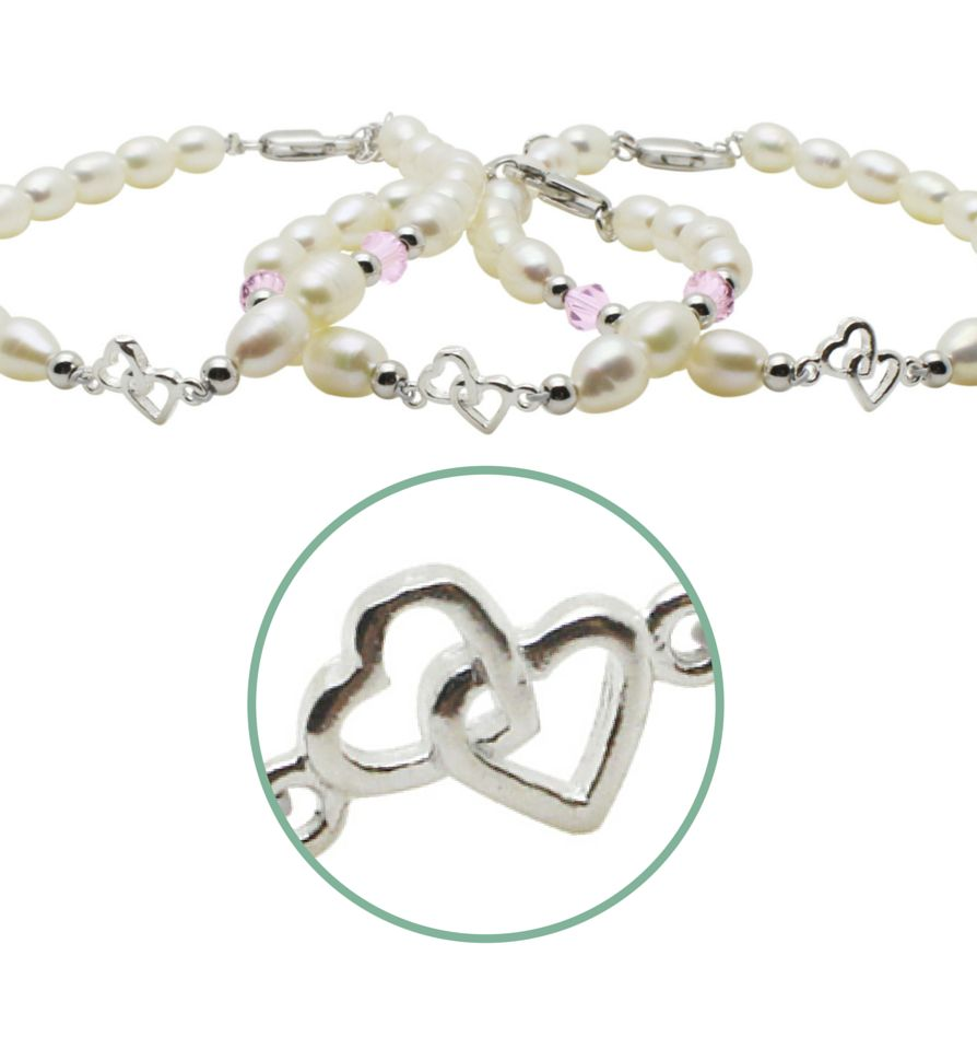 KAYA jewellery 3 Generations Silver Bracelet 'You & Me forever'