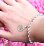 KAYA jewellery Silver Charm Bracelet with 1 engraved Charm