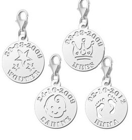 Engraved jewellery Names4ever Silver Names4ever Charm Name and Date