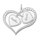 Engraved jewellery Silver Mum Pendant 'Always in my Heart'