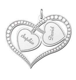 KAYA jewellery Silver Names4ever Engraved Mum Pendant 'Always in my Heart'