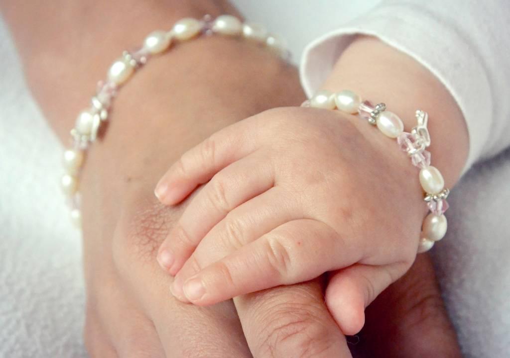 KAYA jewellery Silver Mum & Me Bracelets 'Little Diva' Initial