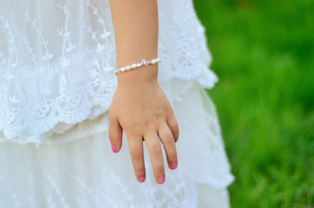 KAYA jewellery Mum & Me Silver Bracelet 'You & Me forever'