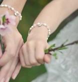 Bubbles (silver) Mum & Me Silver Bracelet 'Pink Bubbles' Heart charms