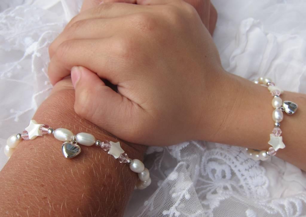 Little Star (silver) Mum & Me Silver Bracelet 'Little Star' with Heart