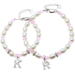Little Diva (silver) Silver Mum & Me Bracelets 'Little Diva' Initial