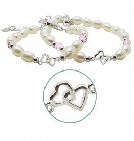 KAYA jewellery Silver Mum & Me Bracelets 'You & Me forever'