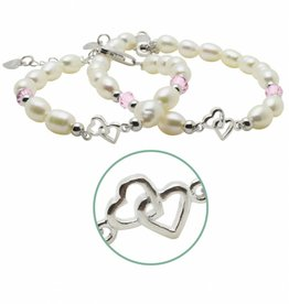 silver jewellery Silver Mum & Me Bracelets 'You & Me forever'