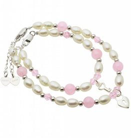 Bubbles (silver) Mum & Me Bracelets 'Pink Bubbles' Key to my Heart