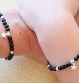 Onyx (silver) Silver Mum & Me Bracelet 'Black Onyx' Key to my Heart