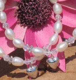KAYA jewellery Silver Mum & Me Bracelets 'Sparkles' Heart