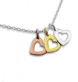 silver jewellery Silver Necklace 'Triple love'