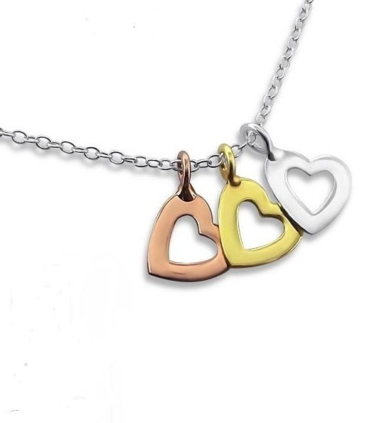 KAYA jewellery Silver Necklace 'Triple love'