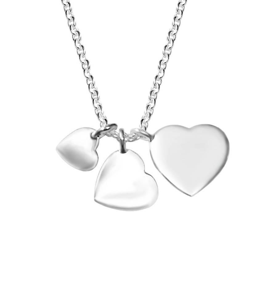 KAYA jewellery Silver Necklace '3 cuties'