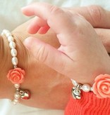 Flower Mum & Me Bracelet 'Flower' with Heart