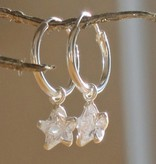 KAYA jewellery Sterling Silver Star Hoop Earrings