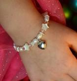 Star Beautiful Mum & Me Bracelet 'Star Pink' with Heart Charm