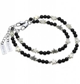 KAYA jewellery Mother & Son Bracelet 'Shine Bright' Black