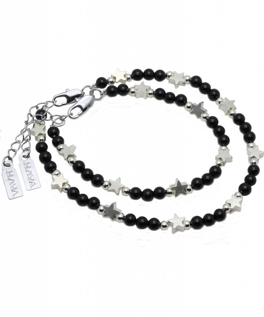 Shine Bright Mother & Son Bracelet 'Shine Bright' Black Onyx