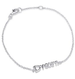silver jewellery Silver Bracelet 'Follow your Dreams'