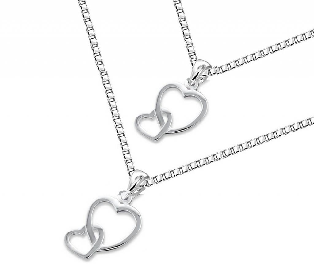 KAYA jewellery Silver Mum & Me necklace 'Connected'