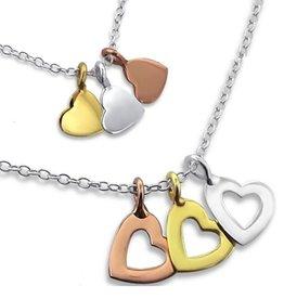 silver jewellery Silver Mum & Me Necklace 'Triple love'