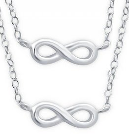 silver jewellery Silver Mum & Me Necklace 'Infinity'