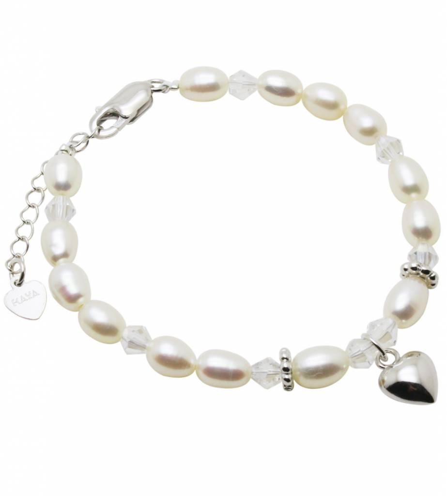 KAYA jewellery Silver Bracelet 'Sparkles' Heart