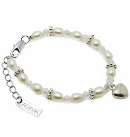 Infinity Girls Bracelet 'Infinity White' with Heart