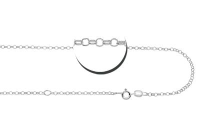 KAYA jewellery Birth stone in silver pendant 'Babyfeet Heart'