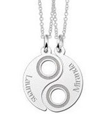 KAYA jewellery Silver Yin Yang Friendship Necklace